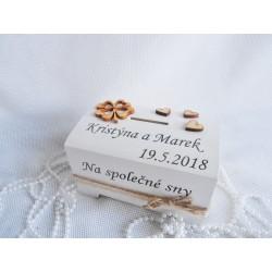Svatební truhlička se čtyřlístkem